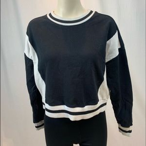 Two tone black and white racer pull over